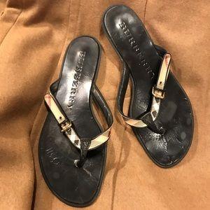 Burberry Sandals Flip Flops size 38 EUC